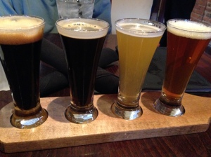 L to R: Stout, Black IPA, Wheat, Imperial IPA