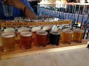 Beers Reviewed Left to Right